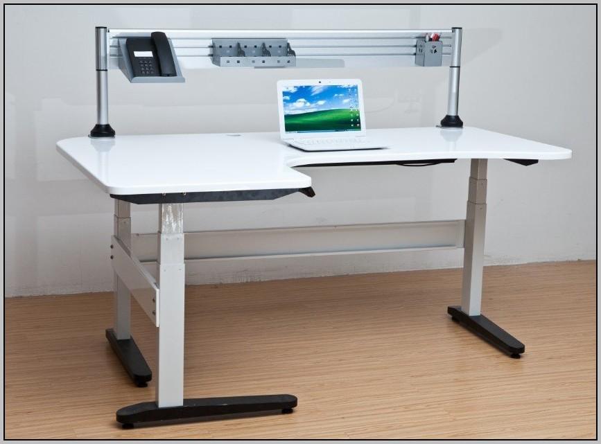 Adjustable Height Computer Desk Staples