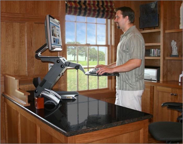 Adjustable Height Computer Desk Table