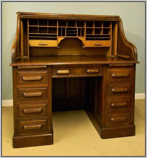 Oak Roll Top Desk Chair Desk Home Design Ideas