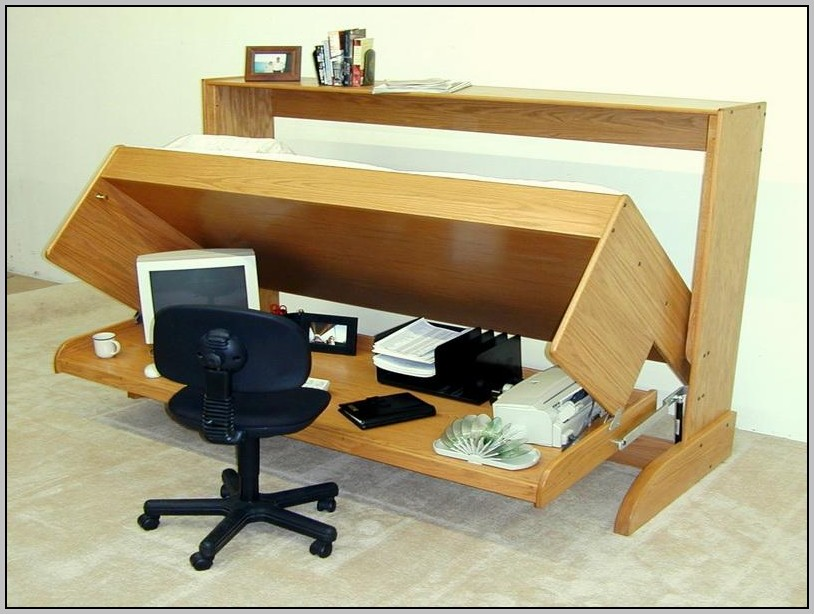 Bed And Desk Combo Plans
