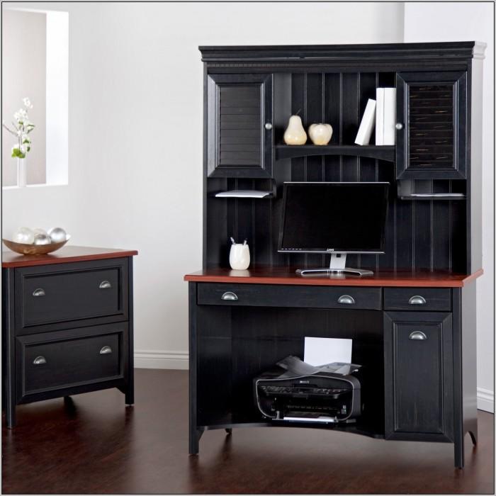 Black Desk With Hutch Under 200 Desk Home Design