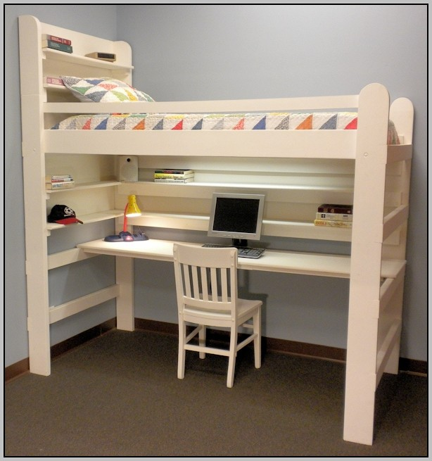 Bunk Bed Desk Combo Queen
