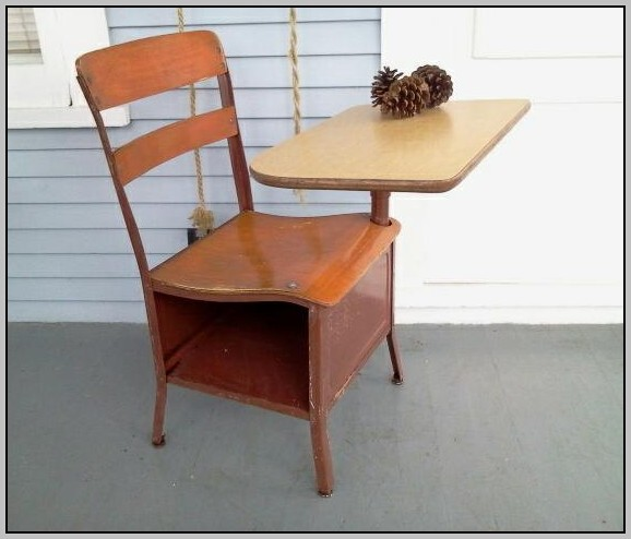 Children's Desk And Chair Wooden