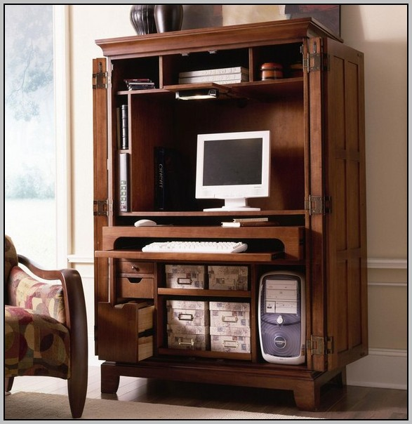 Computer Armoire Desk Home Office