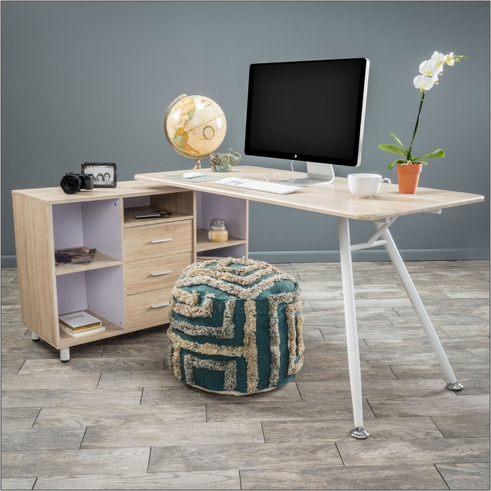 Computer Desk With Storage Cabinet