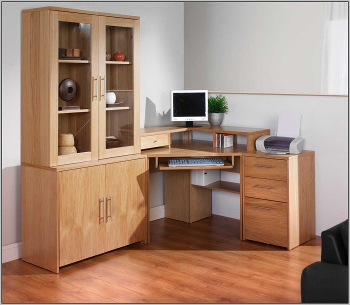 Corner Office Desk With Storage