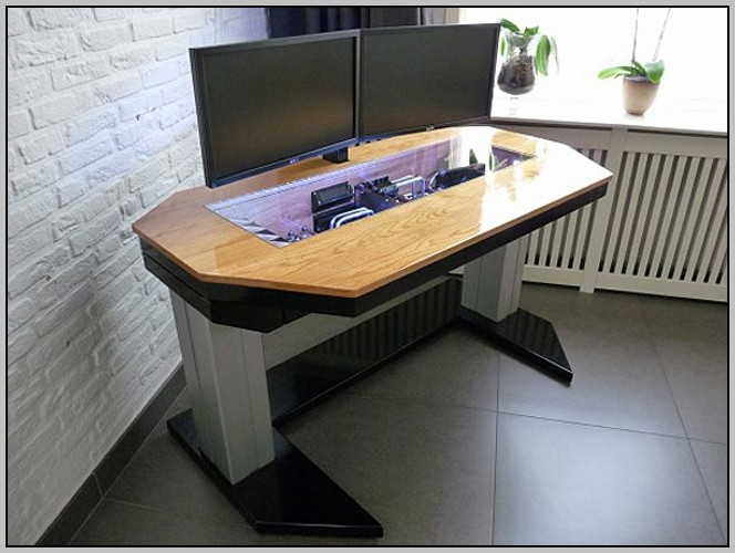 Custom Computer Desk Case Desk Home Design Ideas