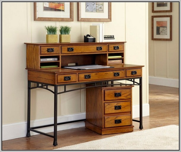 Desk Made With File Cabinets