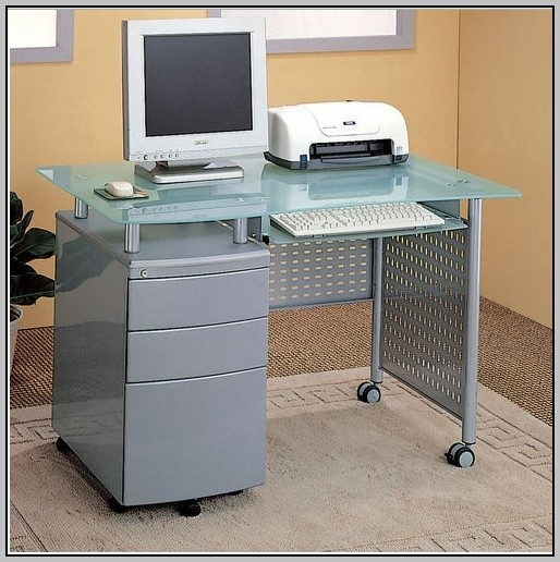 Desk With Locking File Drawer