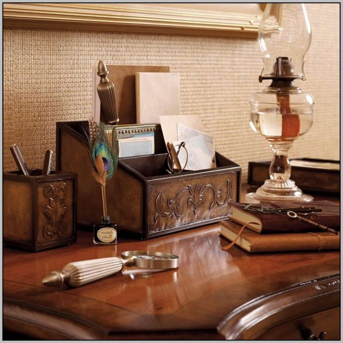 Executive Desk Accessories Leather