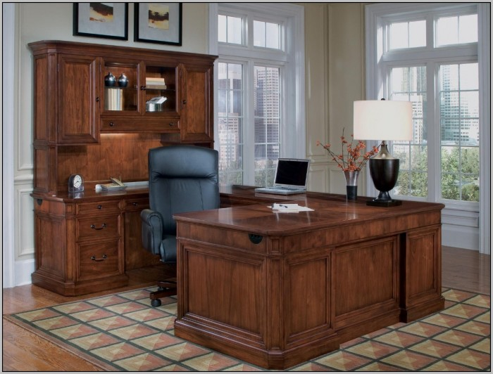 Executive Office Desk With Hutch