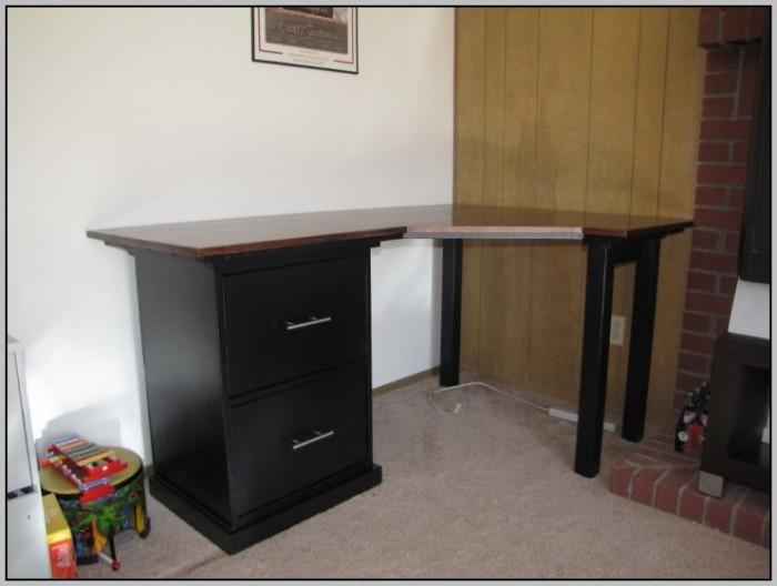 file cabinet under desk desk home design ideas Desk Made From File Cabinets Build Desk with File Cabinets