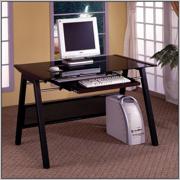 Folding Computer Desk Honey Pine