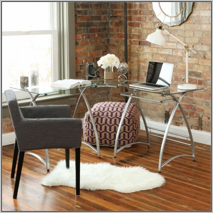 Glass L Shaped Desk Office Max
