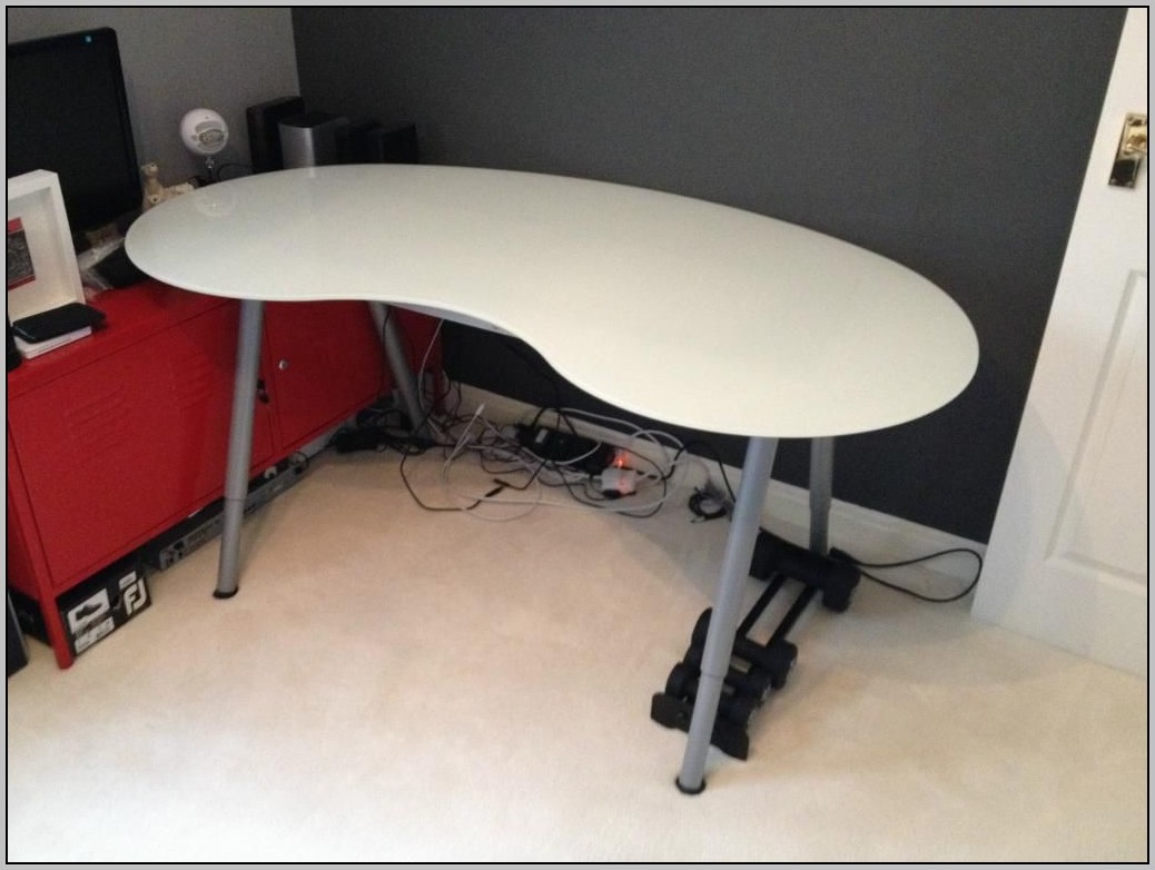 Ikea Glass Desk Kidney Home Design Ideas
