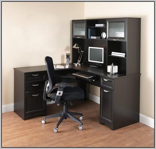 L Shaped Black Corner Desk Download Page Home Design