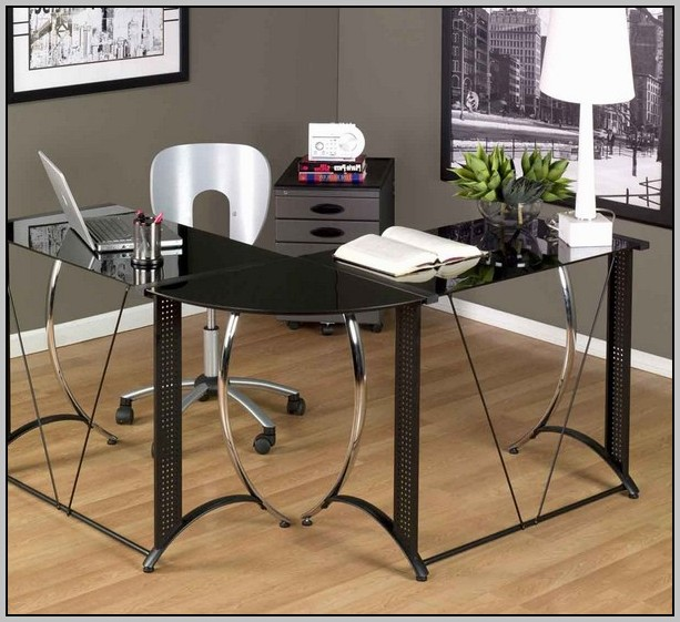 L Shaped Glass Desk Ikea