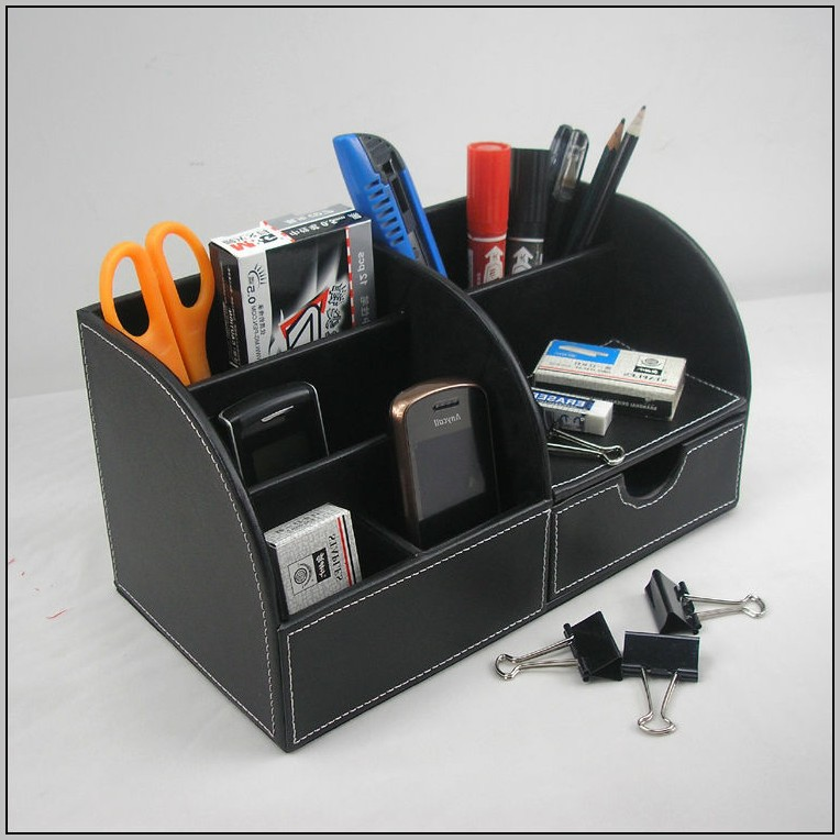 Leather Desk Accessories & Organizers