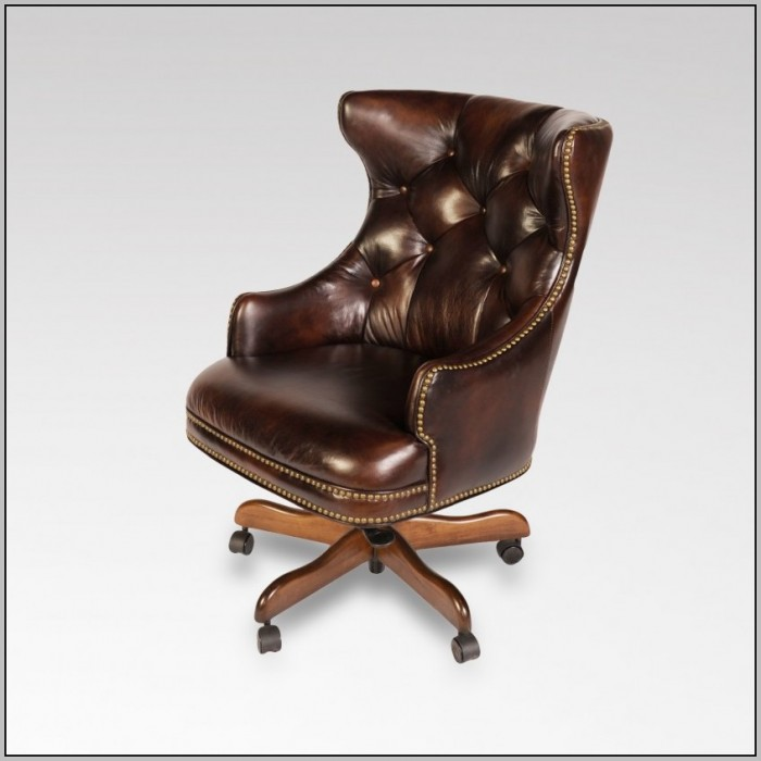 Leather Desk Chairs Wheels
