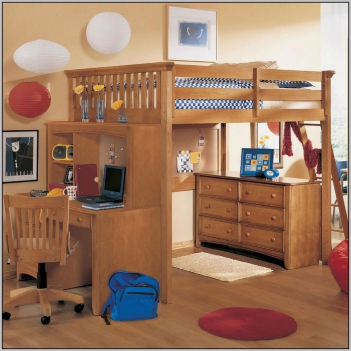 Loft Bunk Bed With Desk And Storage