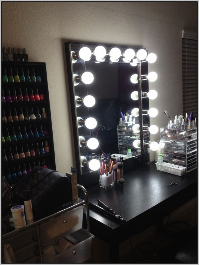 Makeup Vanity Desk Lights Home Design Ideas