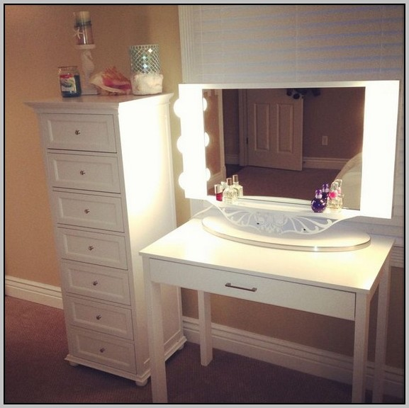 Vanity Makeup Table Lights : Makeup Vanity Desk With Lights Download Page Home Design Ideas Galleries Home Design Ideas ...