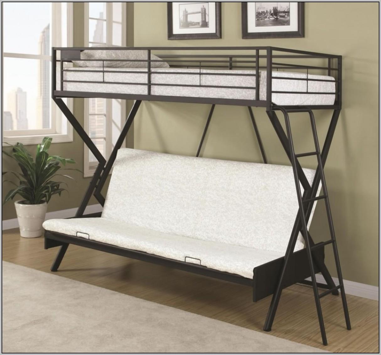 Metal Loft Bunk Bed With Desk Desk Home Design Ideas