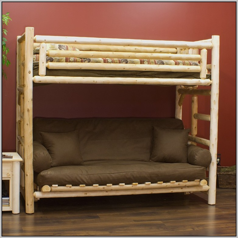 bunk beds futon loft bed futon bunk bed with mattress includ