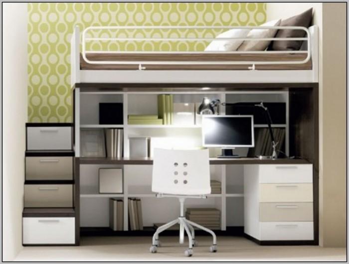 Metal Loft Bed With Desk Canada