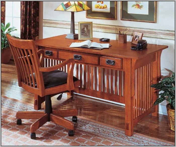 Mission Style Desk Chair