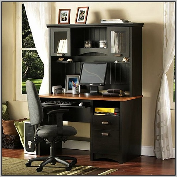 Mission Style Corner Desk With Hutch Desk Home Design