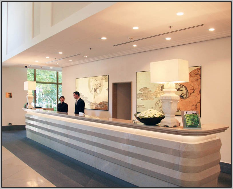 Modern Reception Desk White Home Design Ideas Hotel Decoration