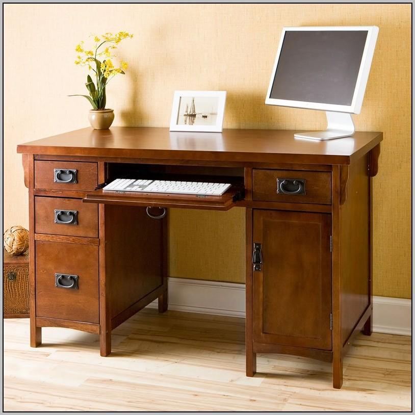 Oak Computer Desk With Drawers Desk Home Design Ideas
