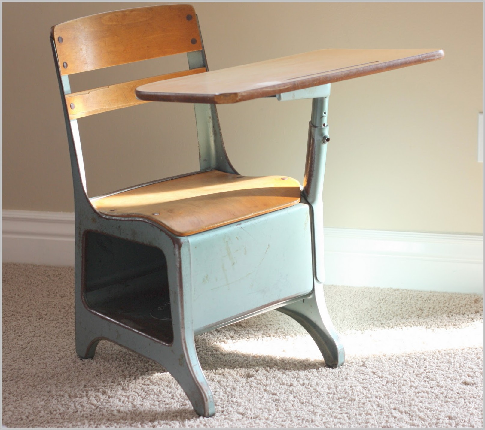 Old school desks redone desk home design ideas for School desks for home