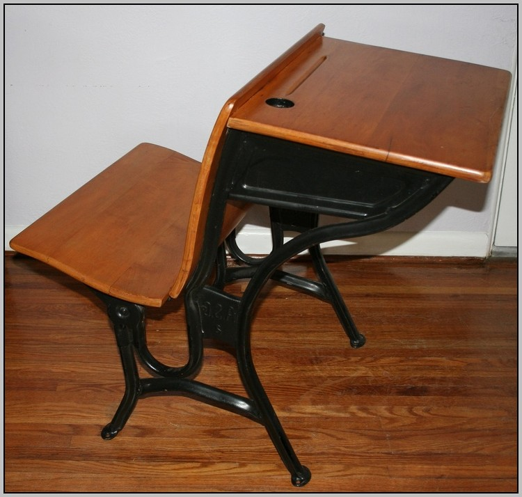 Old school desks value desk home design ideas for School desks for home