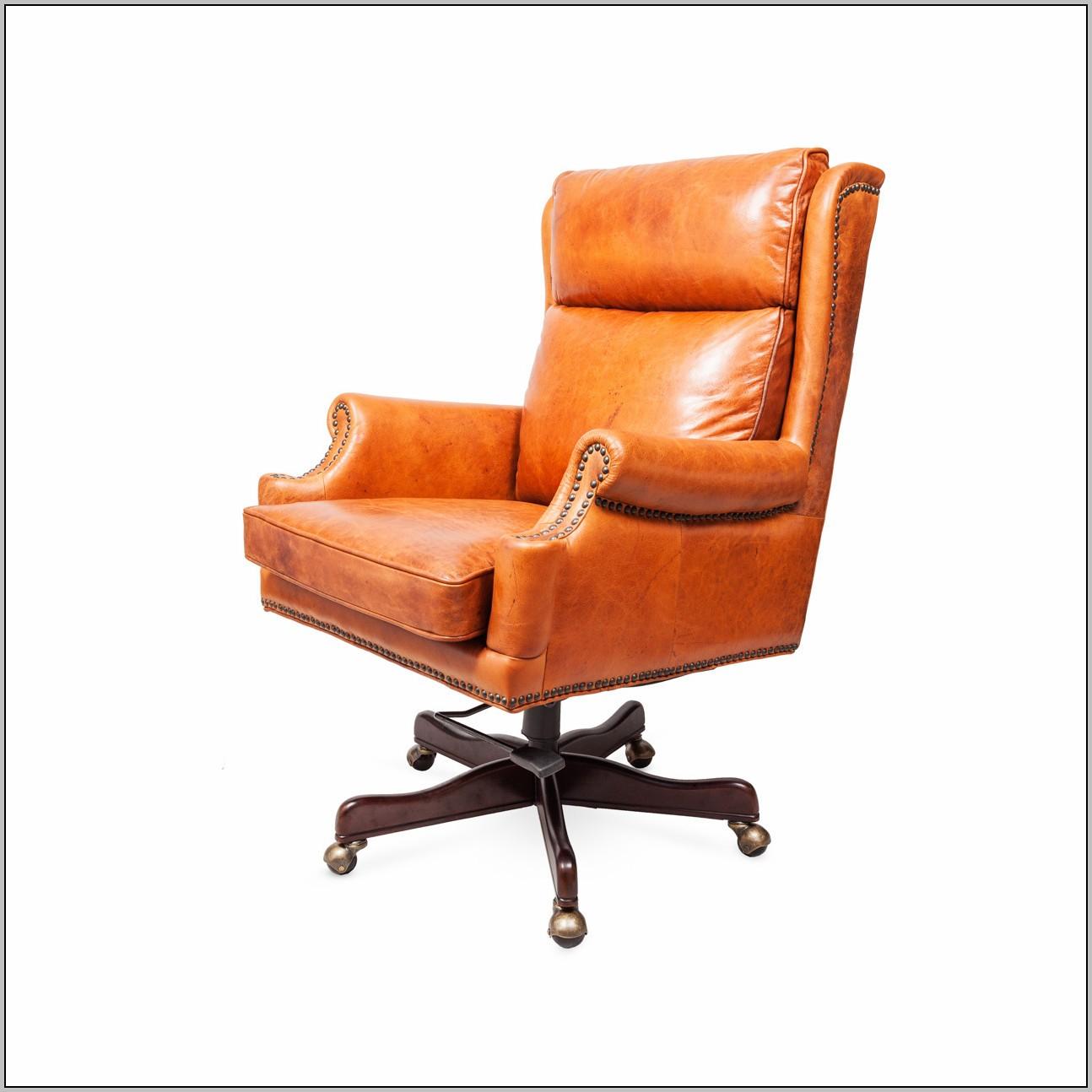 Orange Office Chair Leather Desk Home Design Ideas