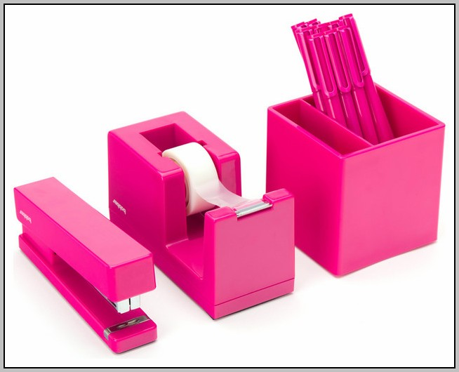 Pink Desk Accessories Set
