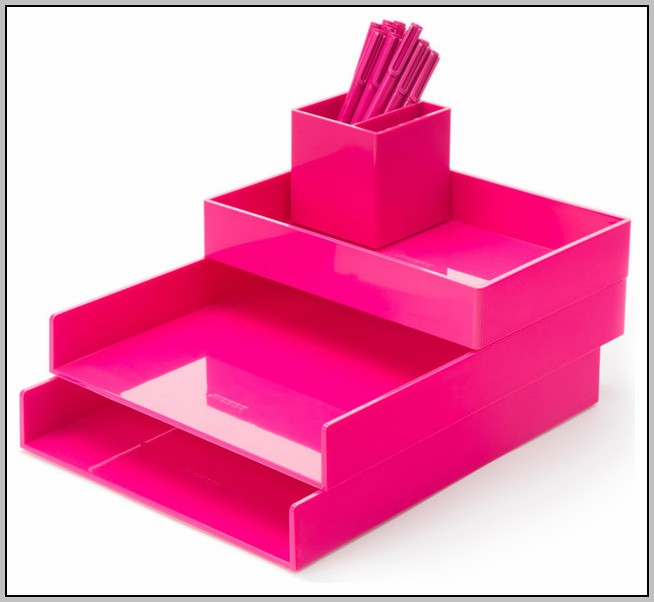 Pink Office Desk Accessories