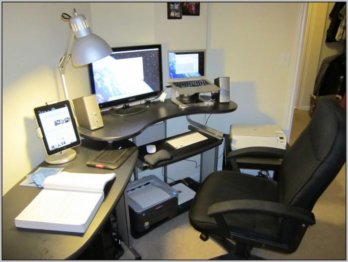 Rolling Computer Desk Staples Desk Home Design Ideas