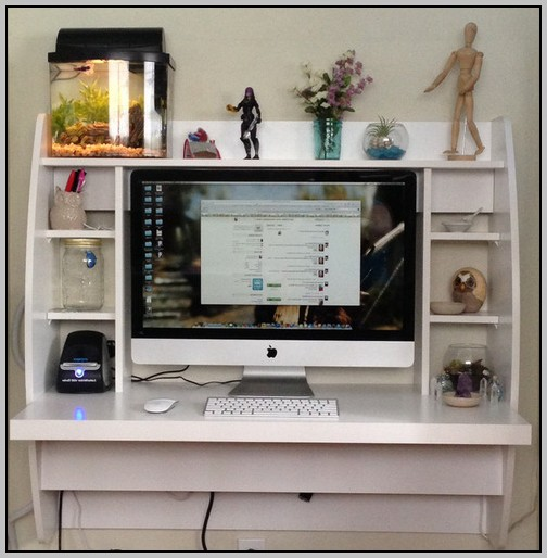 Prepac Floating Desk White
