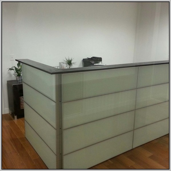 Reception Desk Ikea Hack