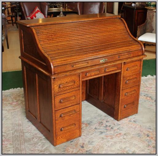 Roll Top Computer Desk Oak