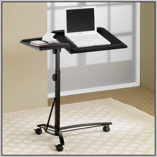 Rolling Laptop Desk Stand