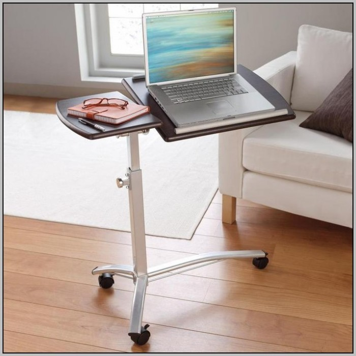 Rolling Laptop Desk Table