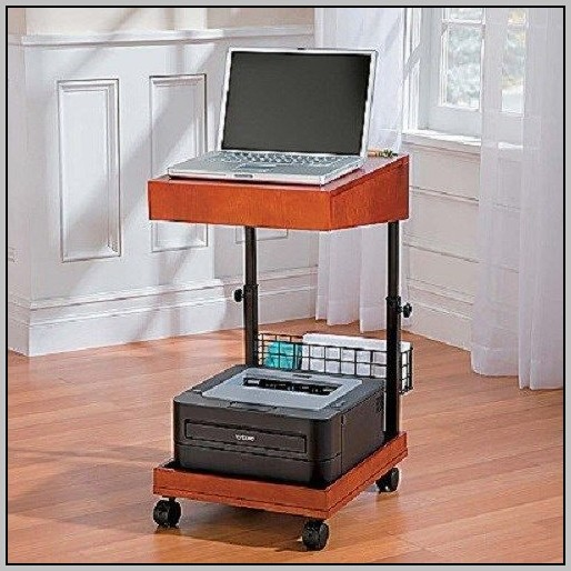 Rolling Laptop Desk With Storage