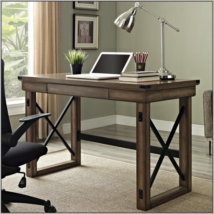 Rustic Oak Computer Desk Desk Home Design Ideas