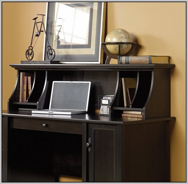 Estate Black Computer Desk With Hutch By Sauder Desk