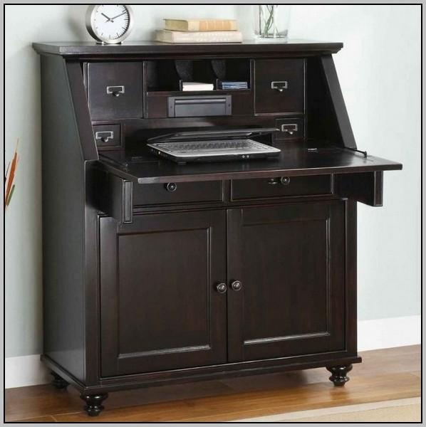Secretary Desk With File Cabinet