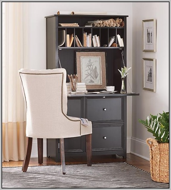 Desk Hutch With Doors Desk Home Design Ideas