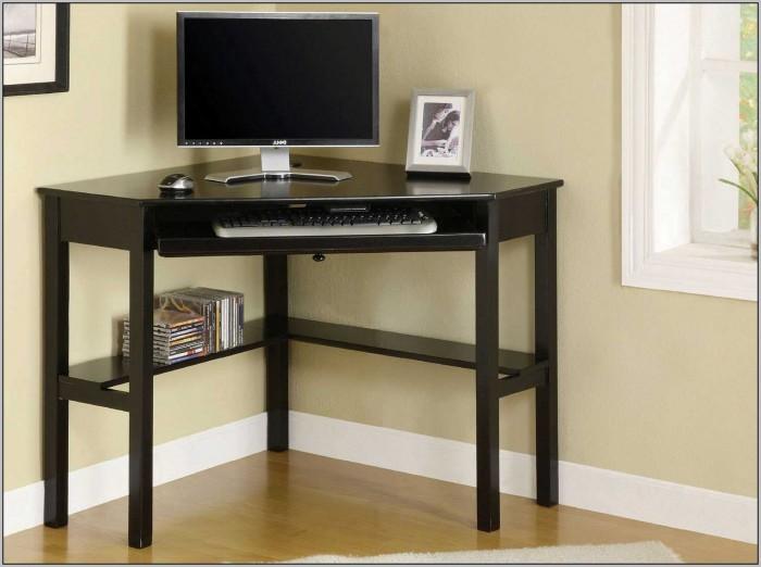 Small Black Corner Computer Desk